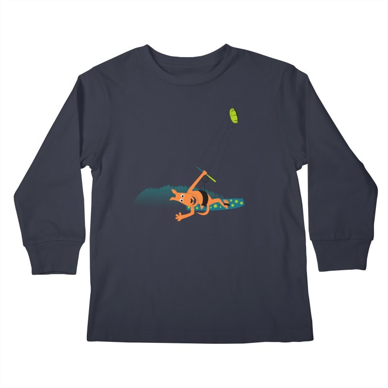 Kitesurfer Kids Longsleeve T-Shirt by kouzza's Artist Shop