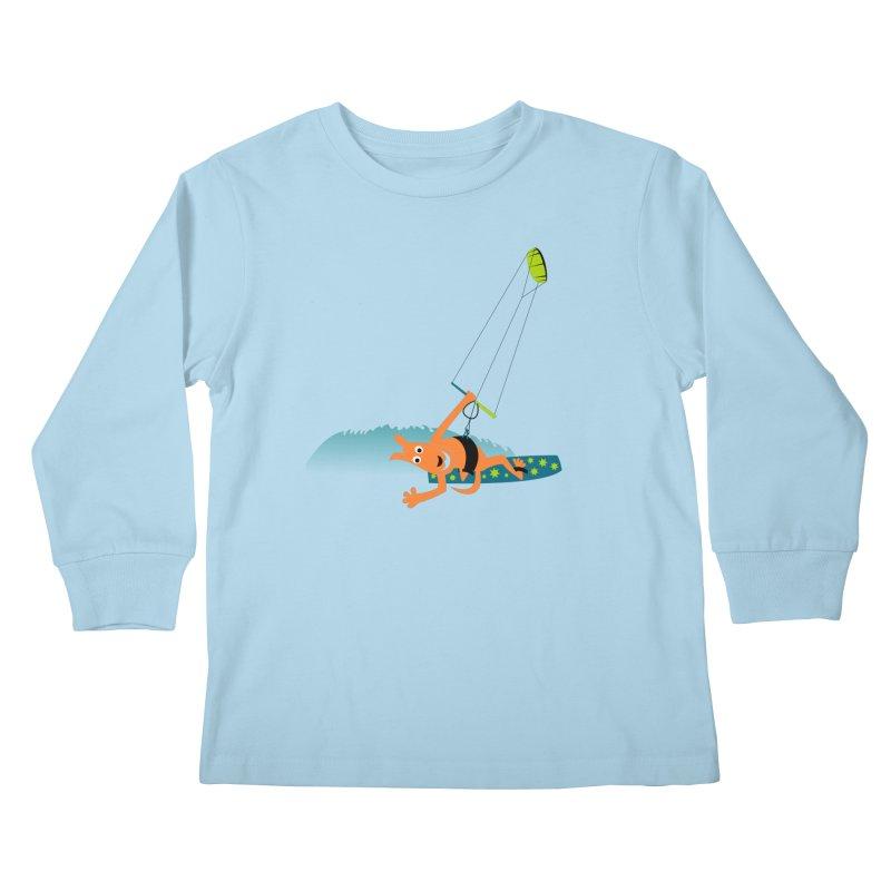 Kitesurfer Kids Longsleeve T-Shirt by kouzza's Artist Shop