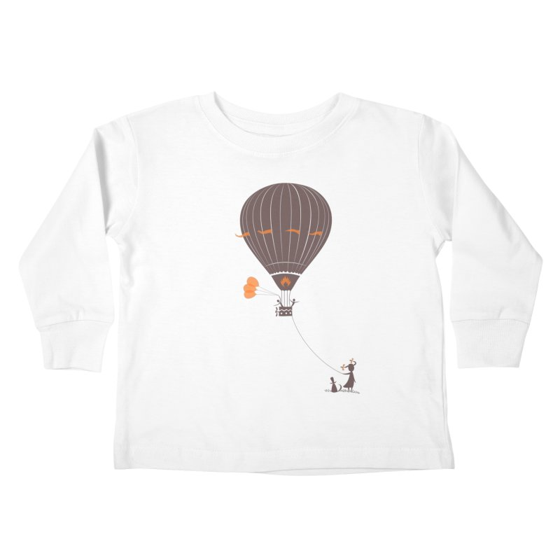 Air baloon Kids Toddler Longsleeve T-Shirt by kouzza's Artist Shop