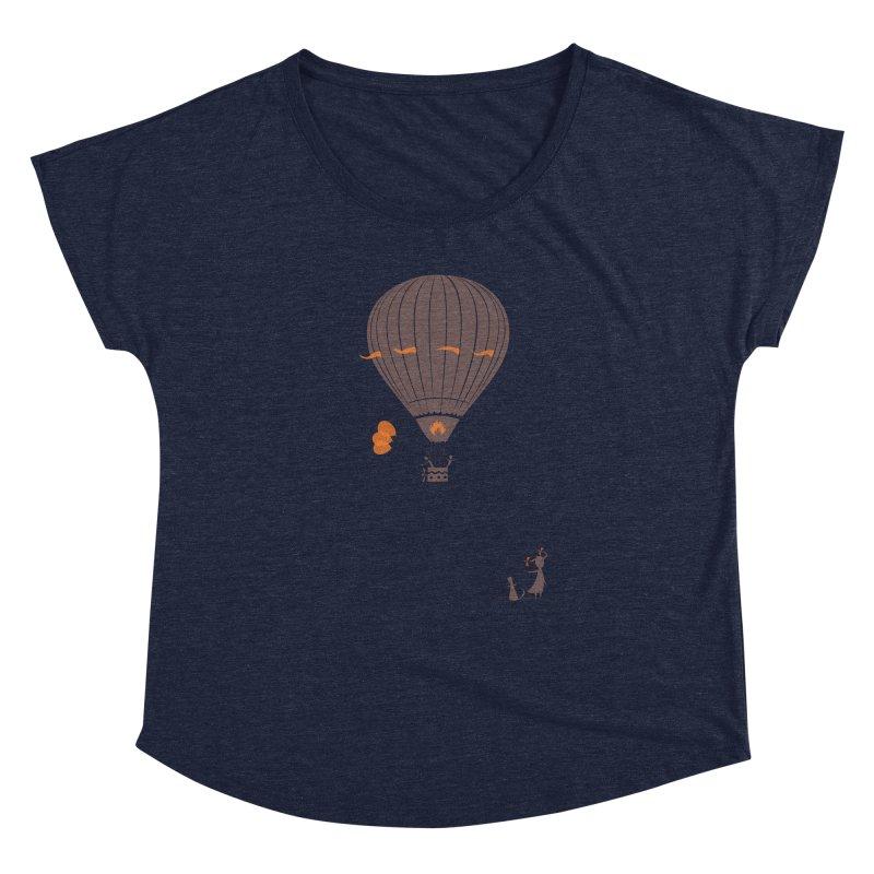 Air baloon Women's Scoop Neck by kouzza's Artist Shop