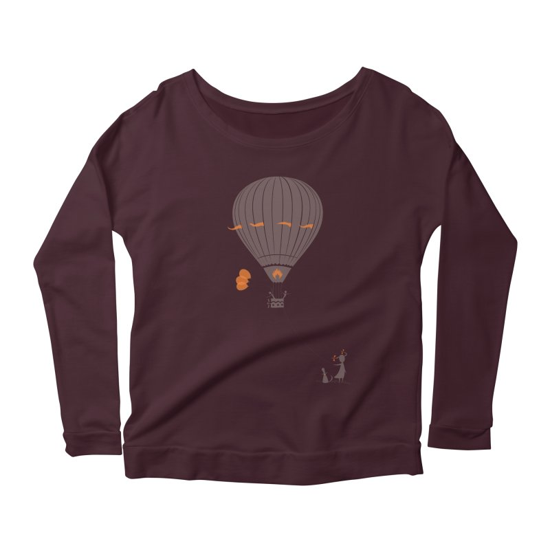 Air baloon Women's Scoop Neck Longsleeve T-Shirt by kouzza's Artist Shop