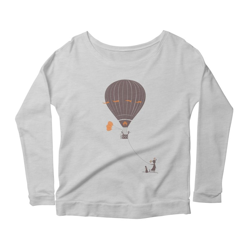 Air baloon Women's Scoop Neck Longsleeve T-Shirt by kouzza's Artist Shop