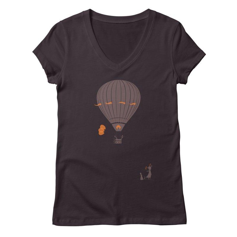 Air baloon Women's V-Neck by kouzza's Artist Shop