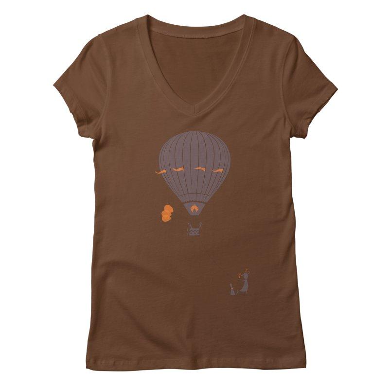 Air baloon Women's Regular V-Neck by kouzza's Artist Shop