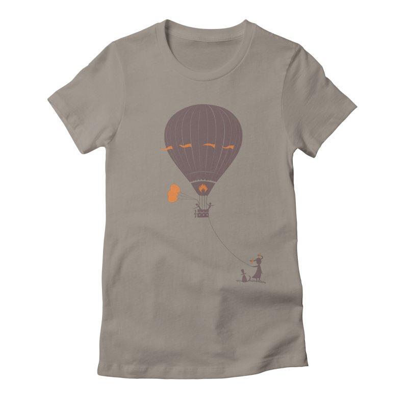 Air baloon Women's Fitted T-Shirt by kouzza's Artist Shop