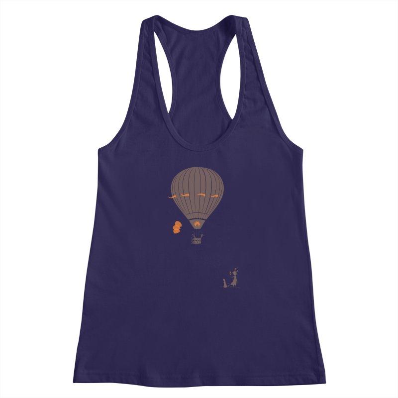 Air baloon Women's Racerback Tank by kouzza's Artist Shop