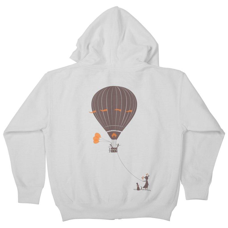 Air baloon Kids Zip-Up Hoody by kouzza's Artist Shop