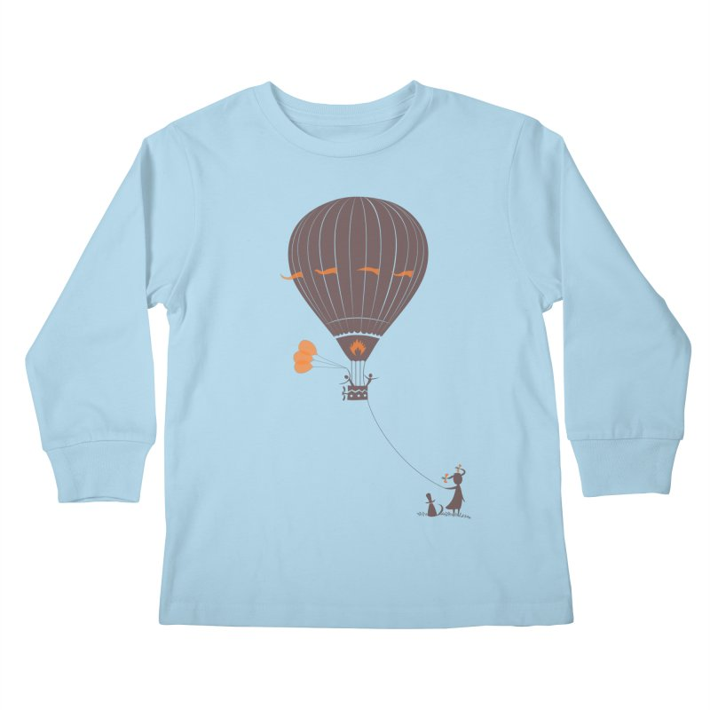 Air baloon Kids Longsleeve T-Shirt by kouzza's Artist Shop