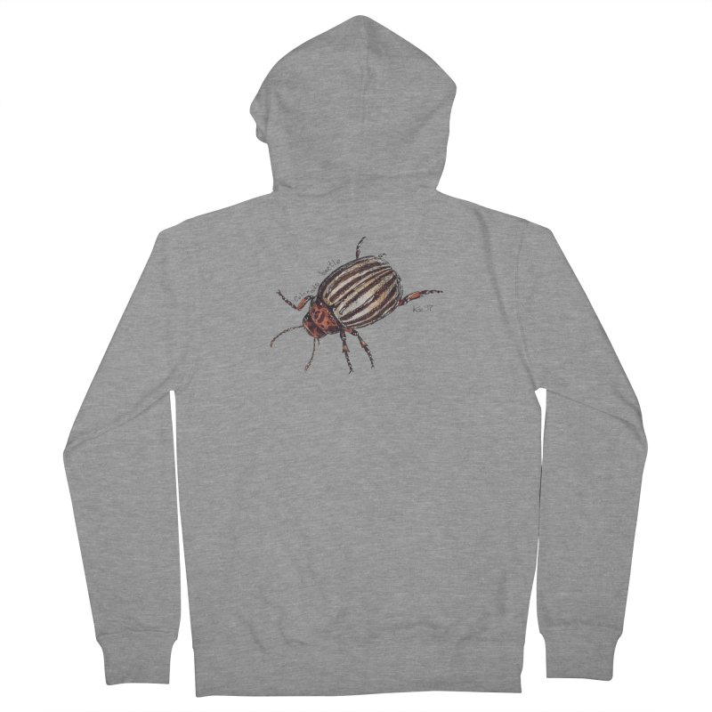 Colorado beetle Women's French Terry Zip-Up Hoody by kouzza's Artist Shop