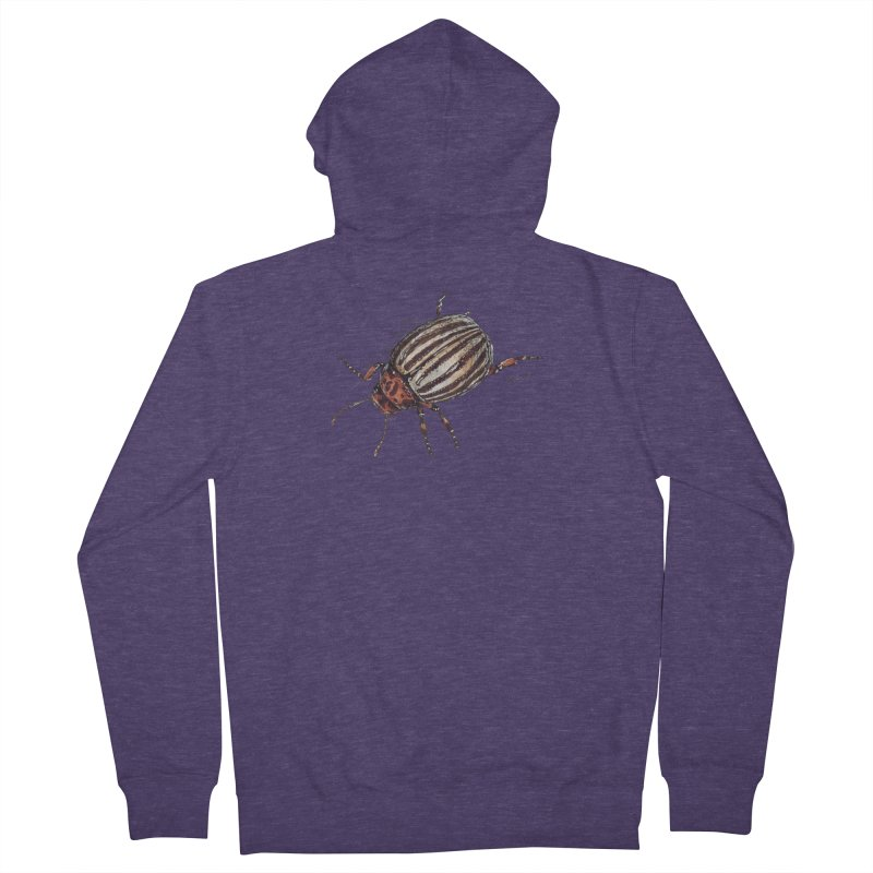 Colorado beetle Men's French Terry Zip-Up Hoody by kouzza's Artist Shop