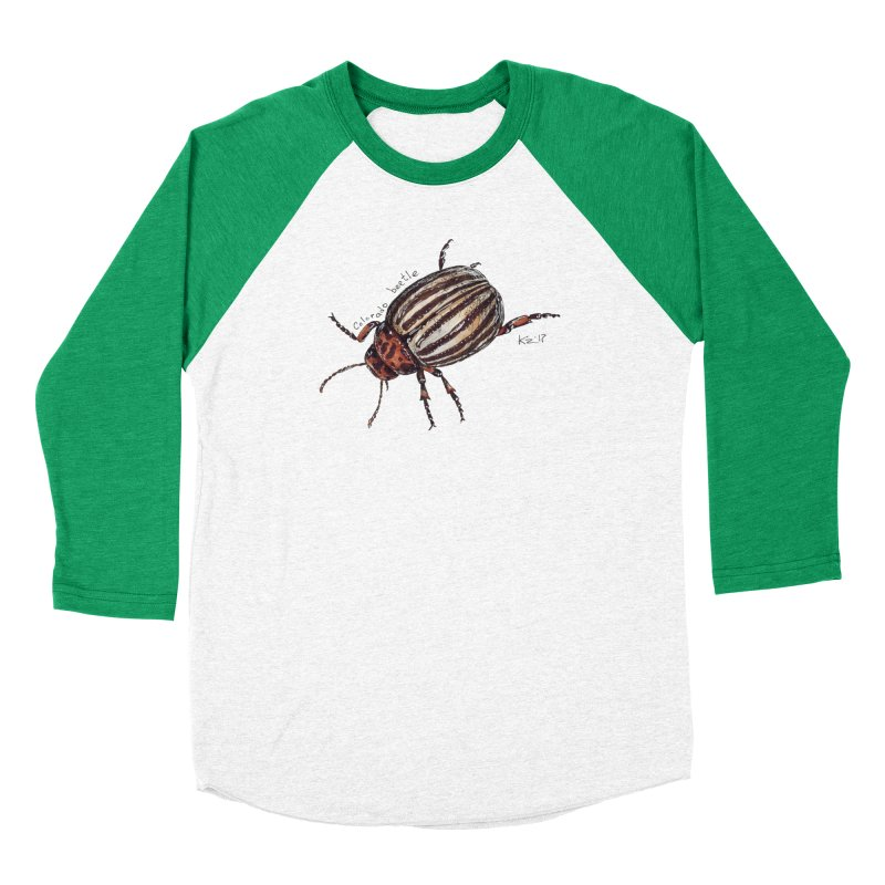 Colorado beetle Women's Baseball Triblend Longsleeve T-Shirt by kouzza's Artist Shop