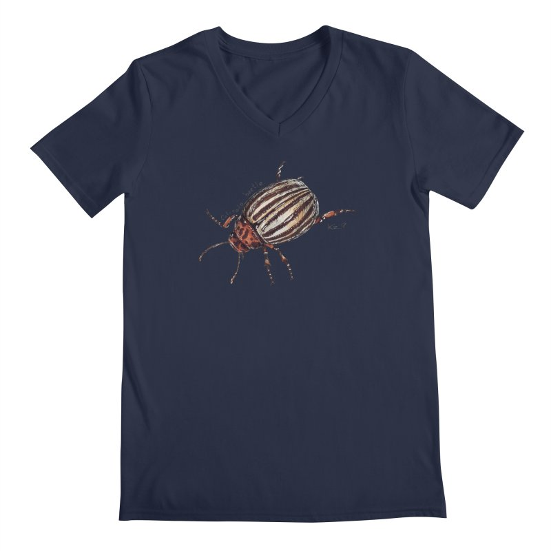 Colorado beetle Men's Regular V-Neck by kouzza's Artist Shop
