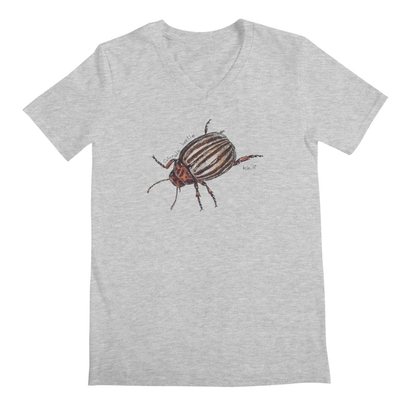 Colorado beetle Men's Regular V-Neck by kouzza's Artist Shop