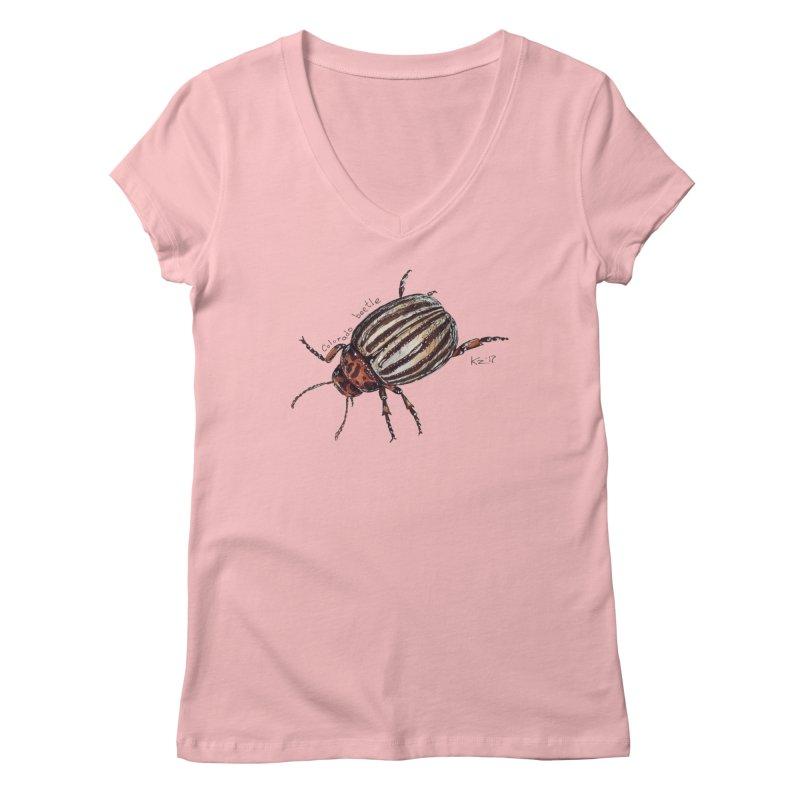 Colorado beetle Women's V-Neck by kouzza's Artist Shop