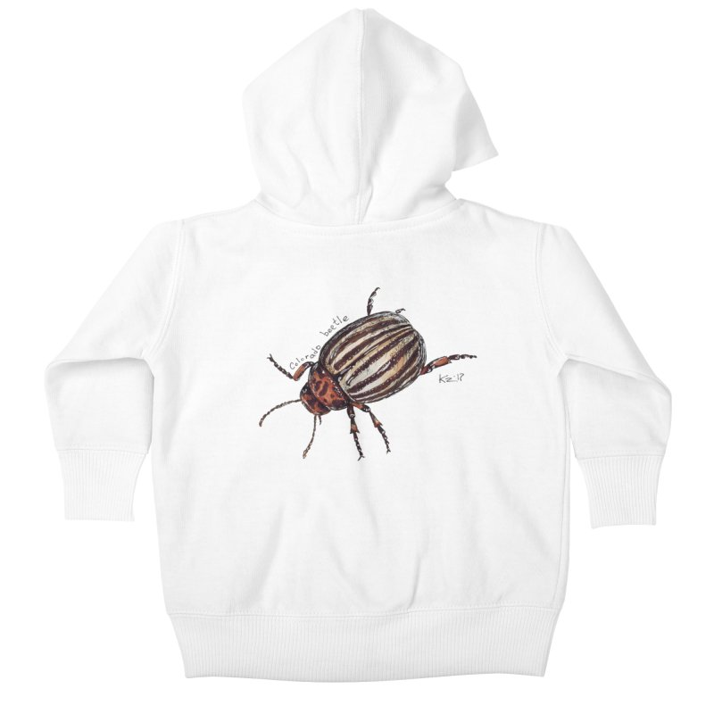 Colorado beetle Kids Baby Zip-Up Hoody by kouzza's Artist Shop