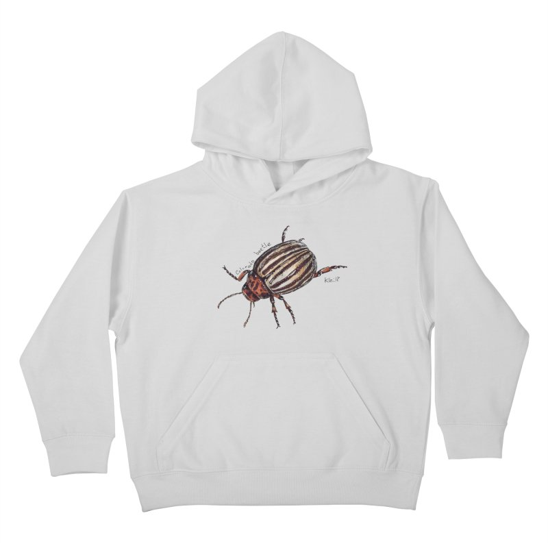 Colorado beetle Kids Pullover Hoody by kouzza's Artist Shop