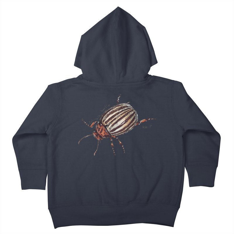 Colorado beetle Kids Toddler Zip-Up Hoody by kouzza's Artist Shop