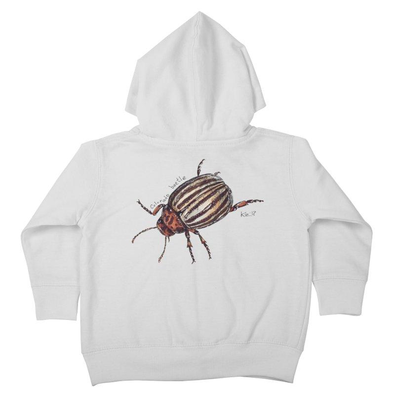Colorado beetle Kids Toddler Zip-Up Hoody by kouzza's Artist Shop