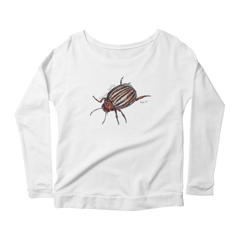 Colorado beetle Women's Scoop Neck Longsleeve T-Shirt by kouzza's Artist Shop
