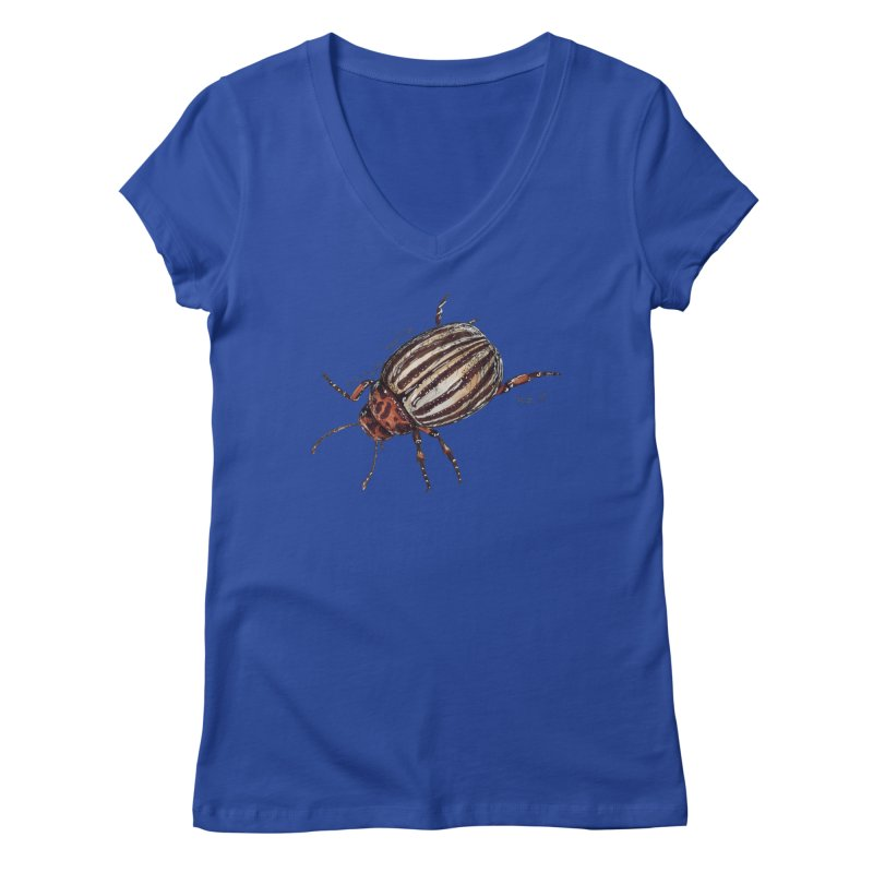 Colorado beetle Women's Regular V-Neck by kouzza's Artist Shop
