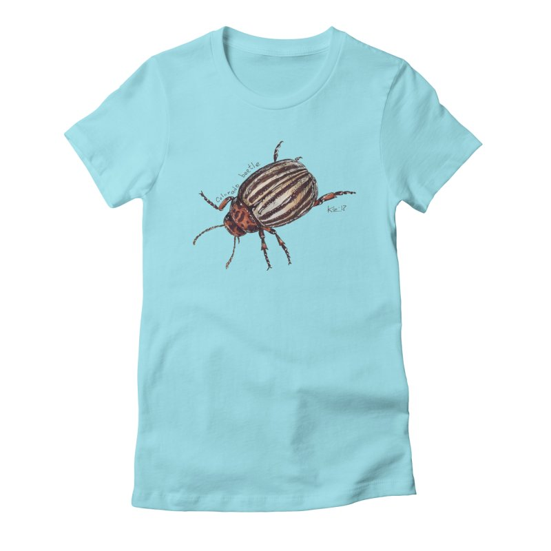 Colorado beetle Women's Fitted T-Shirt by kouzza's Artist Shop