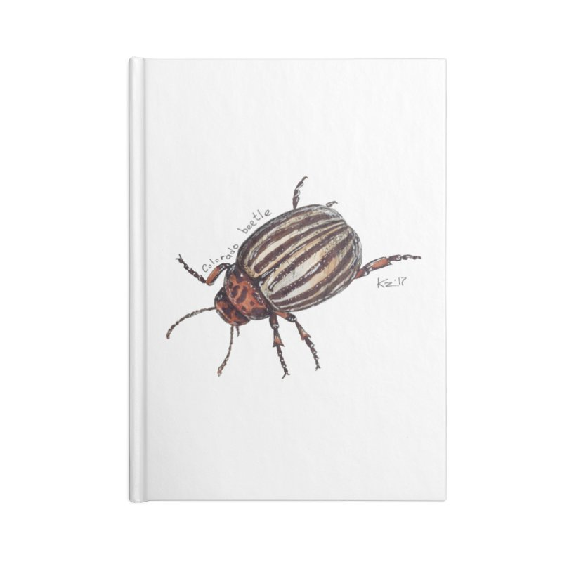 Colorado beetle Accessories Notebook by kouzza's Artist Shop