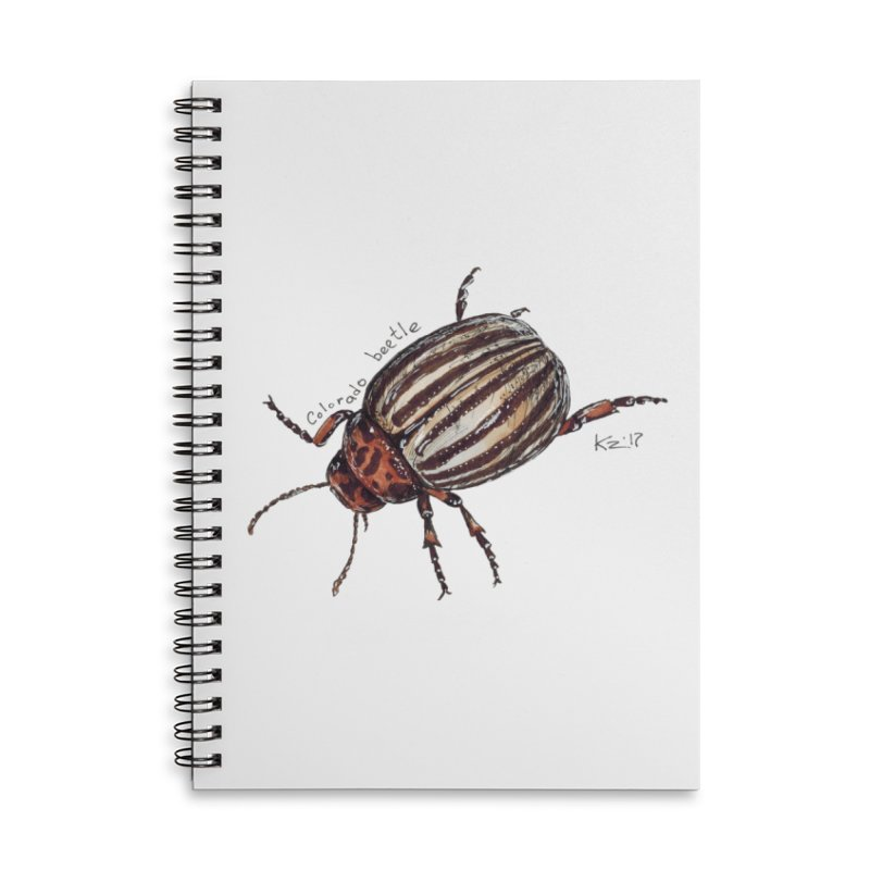 Colorado beetle Accessories Lined Spiral Notebook by kouzza's Artist Shop
