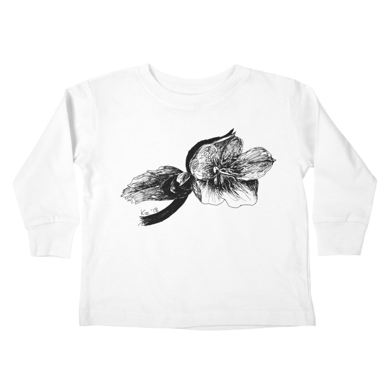 Flower1 Kids Toddler Longsleeve T-Shirt by kouzza's Artist Shop