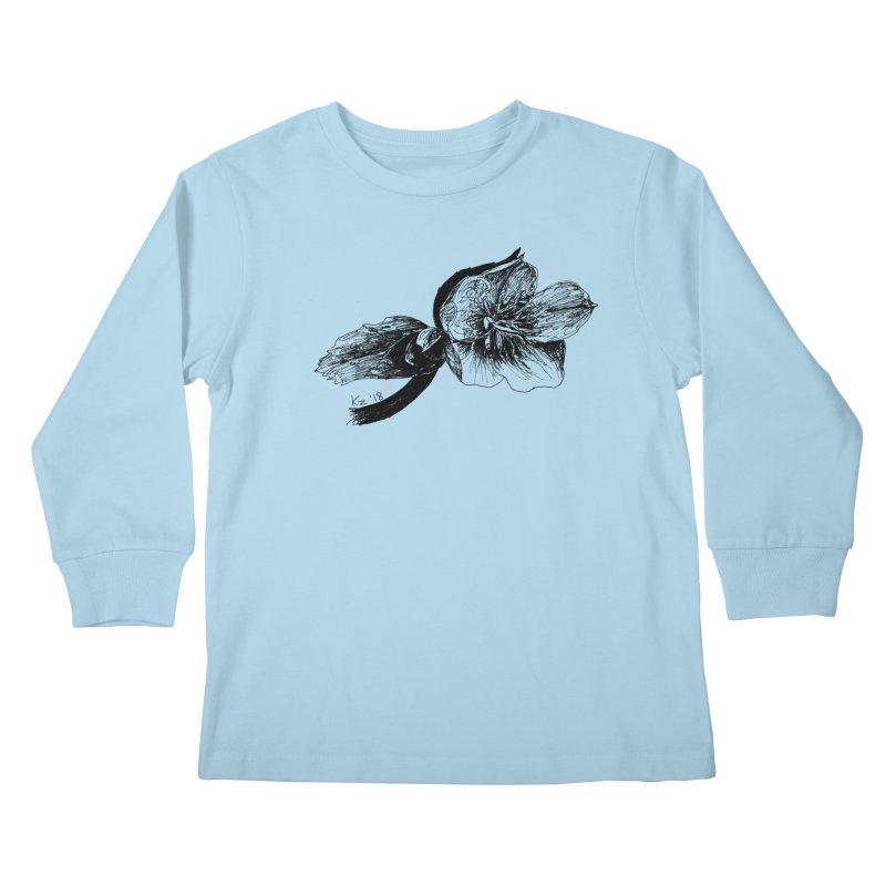 Flower1 Kids Longsleeve T-Shirt by kouzza's Artist Shop