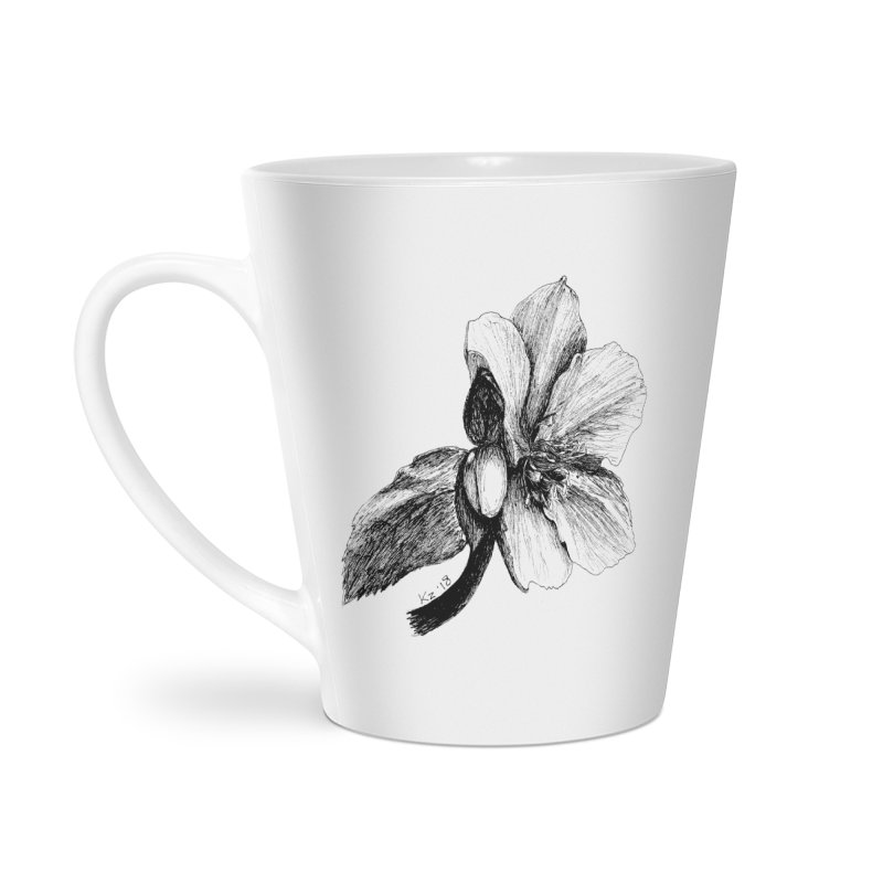 Flower T-shirt Accessories Latte Mug by kouzza's Artist Shop