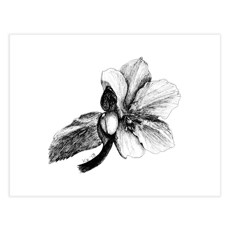 Flower T-shirt Home Fine Art Print by kouzza's Artist Shop