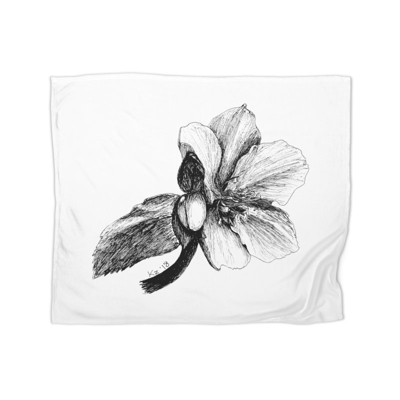Flower T-shirt Home Blanket by kouzza's Artist Shop
