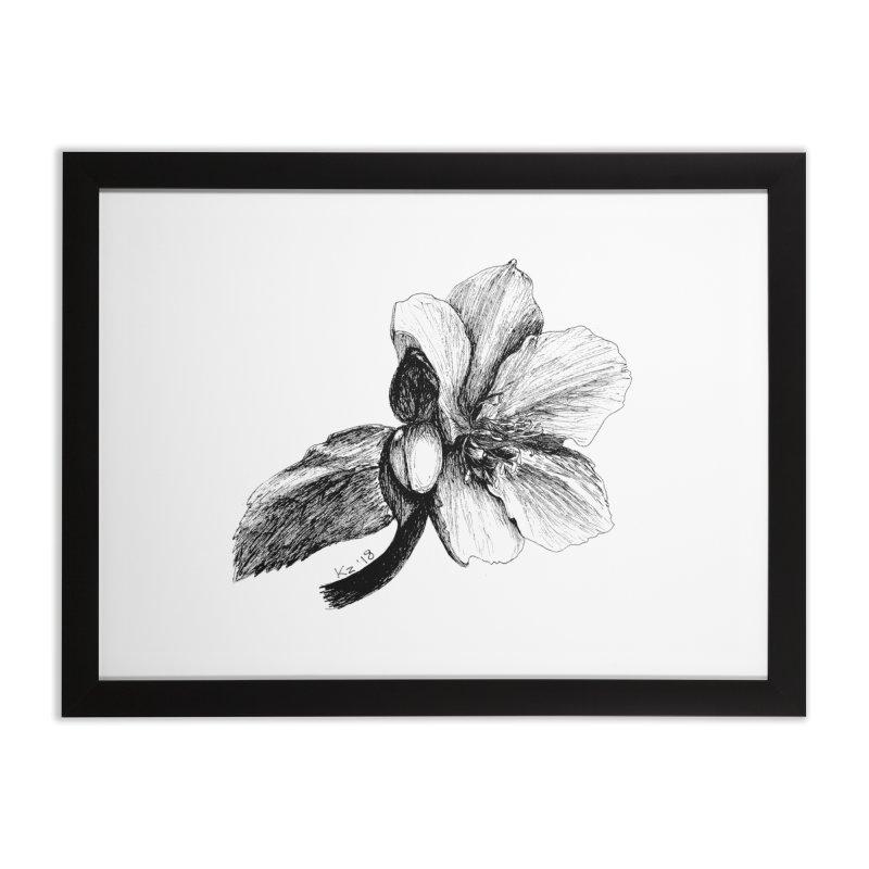 Flower T-shirt Home Framed Fine Art Print by kouzza's Artist Shop