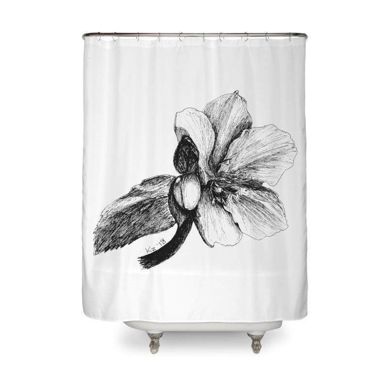 Flower T-shirt Home Shower Curtain by kouzza's Artist Shop