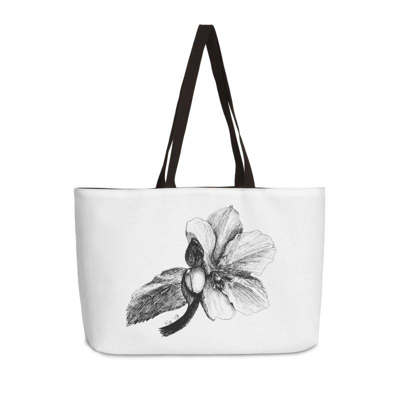Flower T-shirt Accessories Weekender Bag Bag by kouzza's Artist Shop