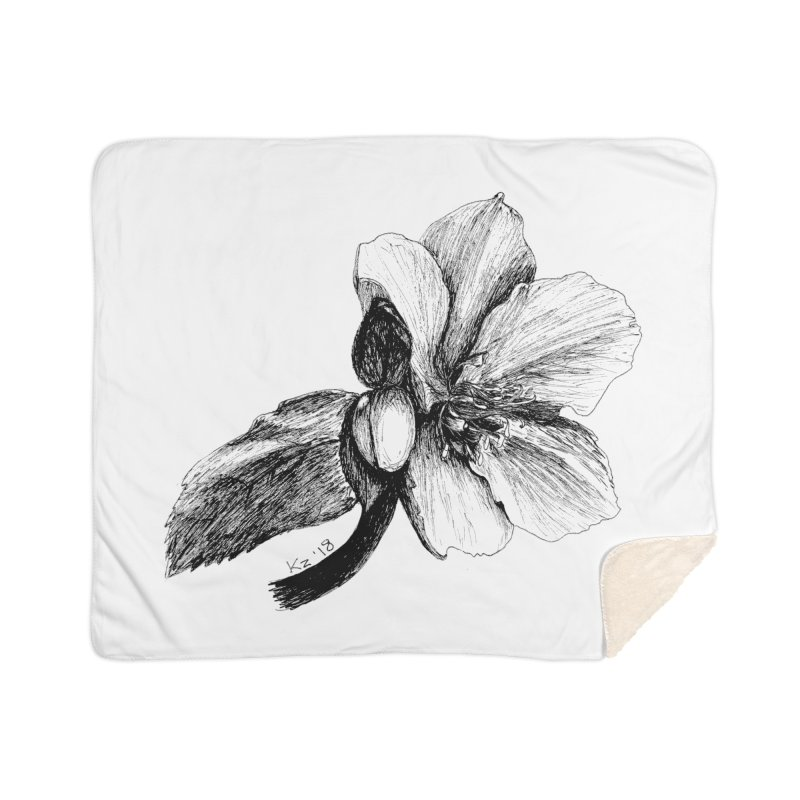 Flower T-shirt Home Sherpa Blanket Blanket by kouzza's Artist Shop