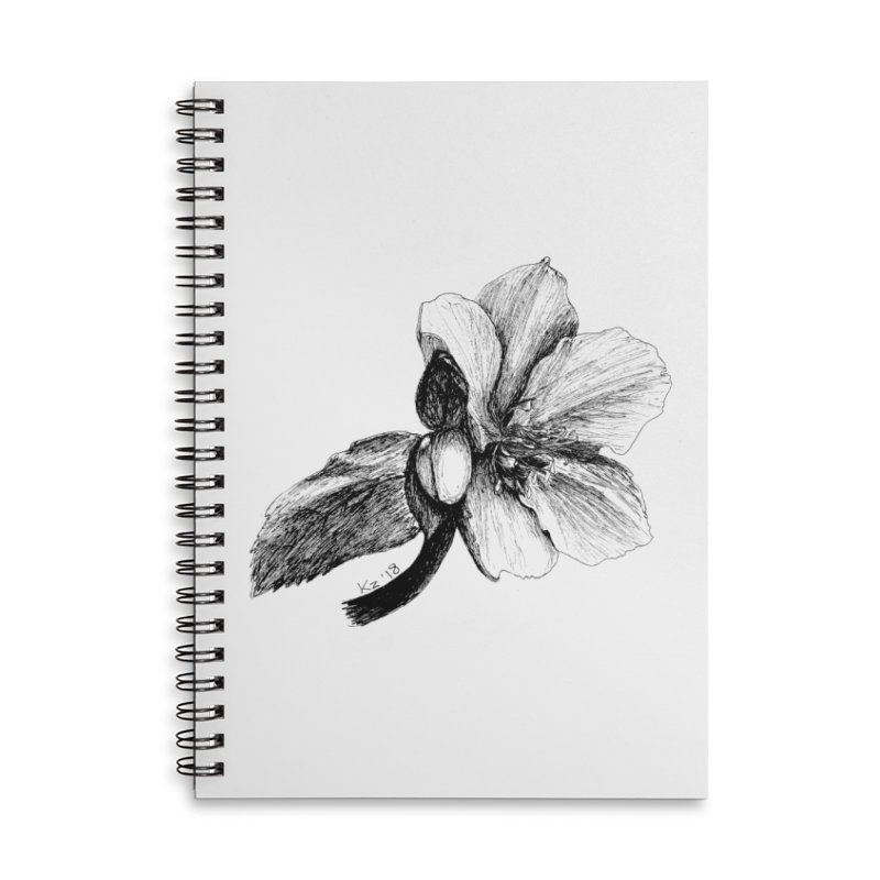 Flower T-shirt Accessories Lined Spiral Notebook by kouzza's Artist Shop