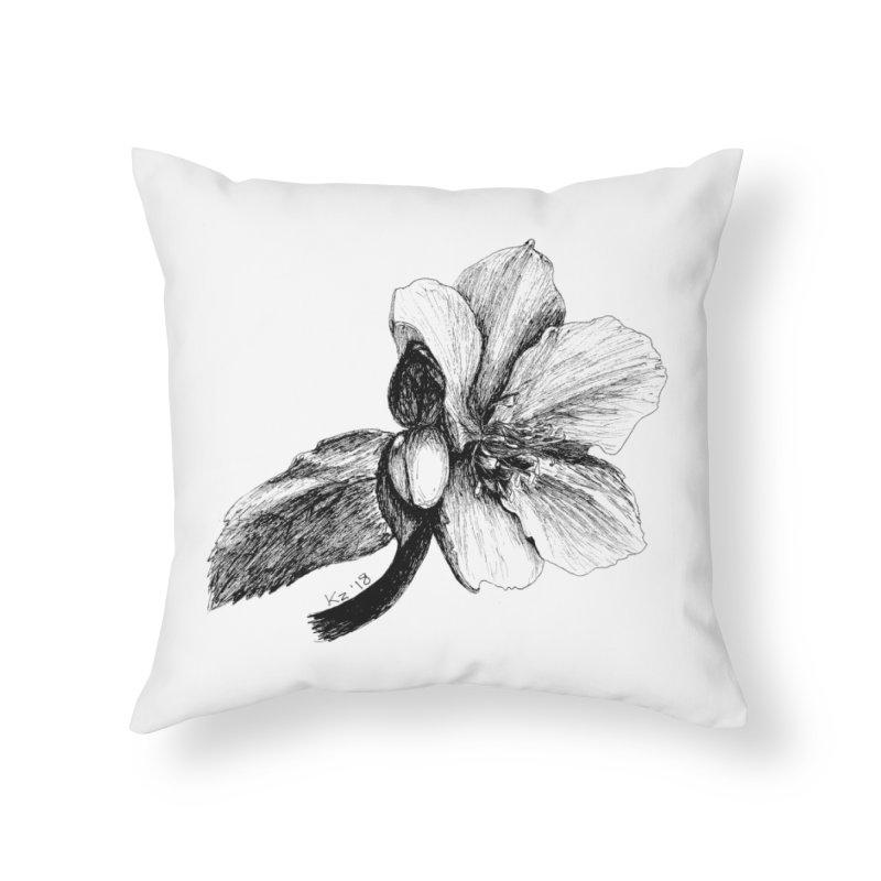 Flower 2 Home Throw Pillow by kouzza's Artist Shop