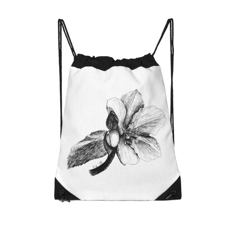Flower T-shirt Accessories Drawstring Bag Bag by kouzza's Artist Shop