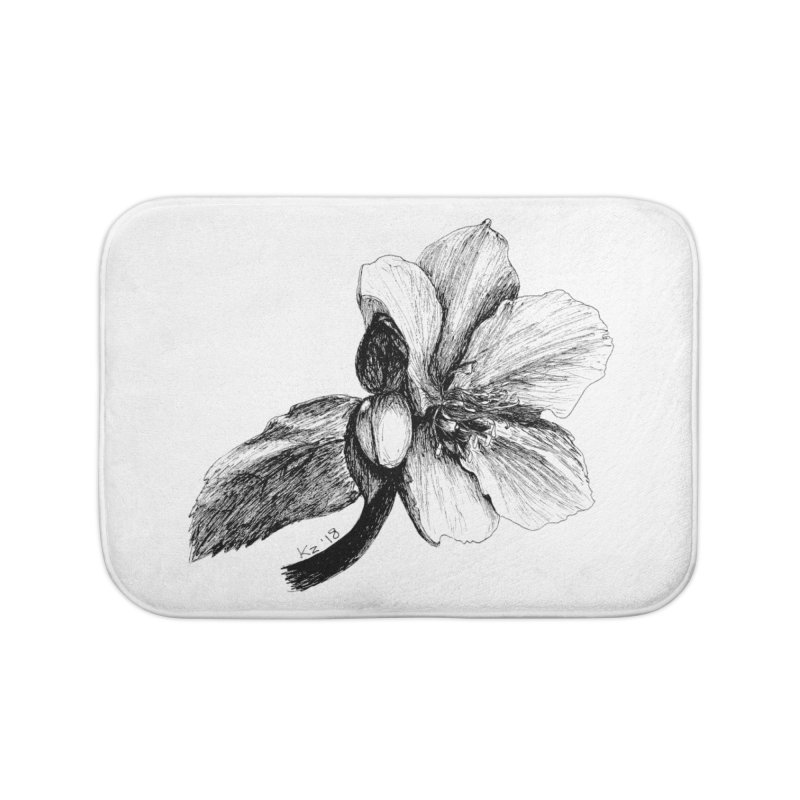 Flower T-shirt Home Bath Mat by kouzza's Artist Shop