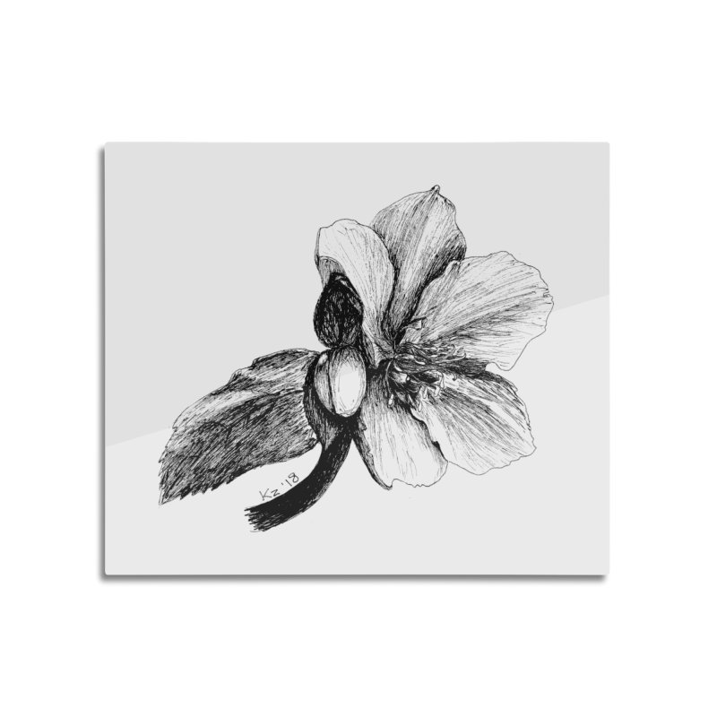 Flower 2 Home Mounted Aluminum Print by kouzza's Artist Shop