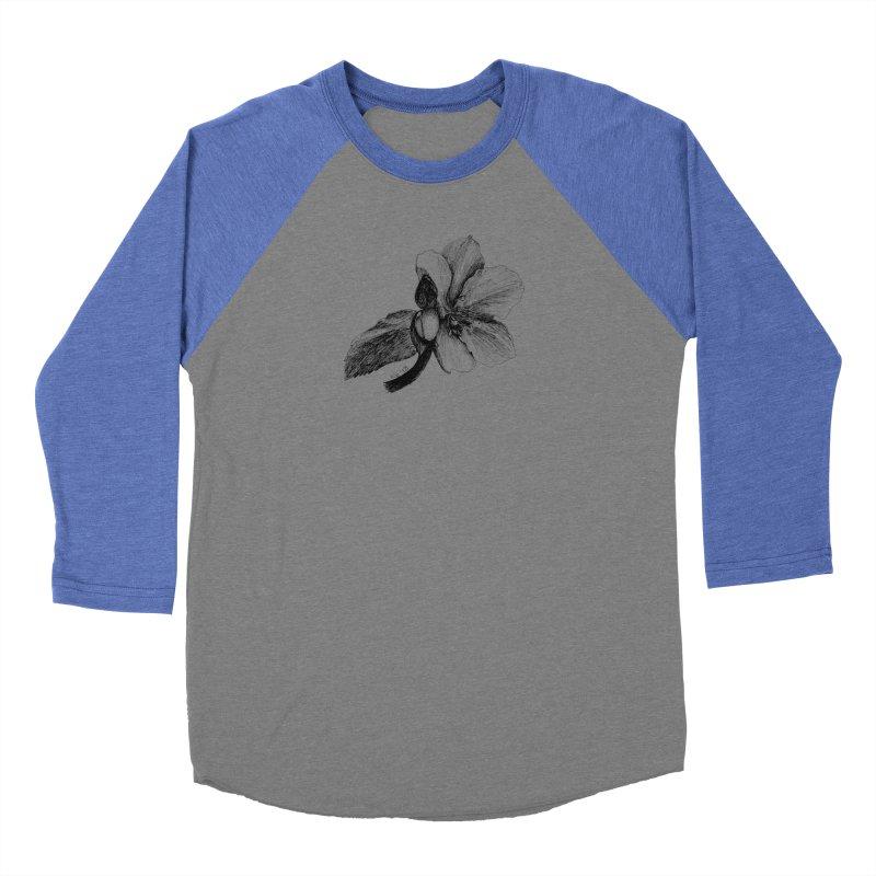 Flower T-shirt Men's Baseball Triblend Longsleeve T-Shirt by kouzza's Artist Shop