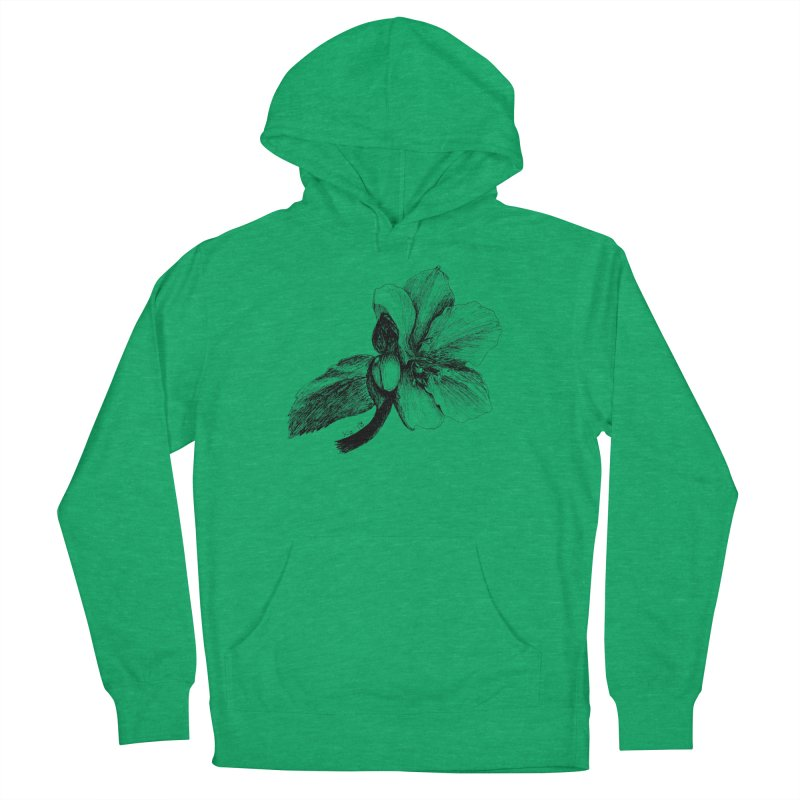 Flower T-shirt Women's French Terry Pullover Hoody by kouzza's Artist Shop