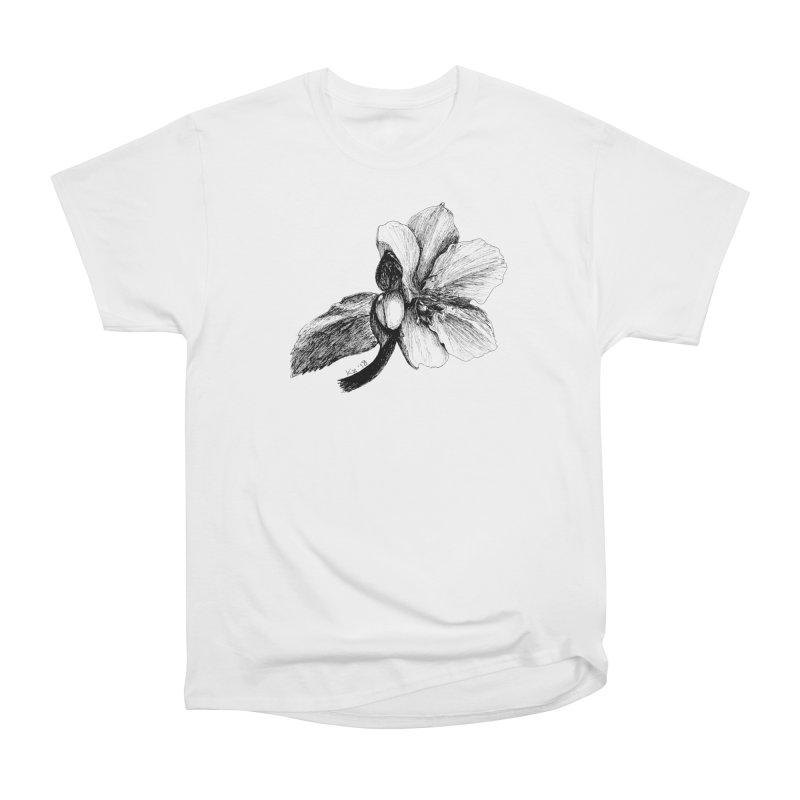 Flower T-shirt Men's Heavyweight T-Shirt by kouzza's Artist Shop