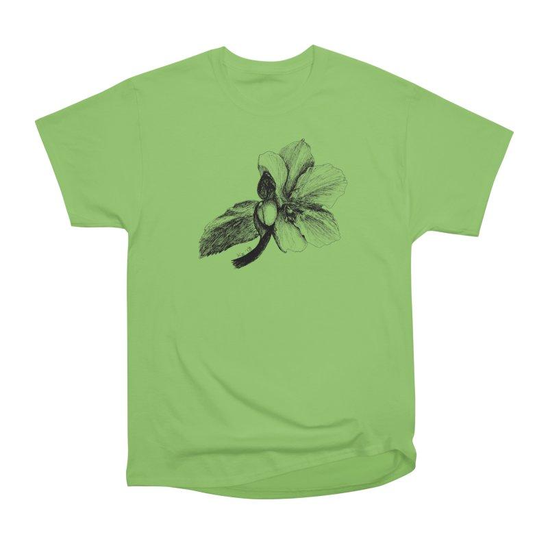 Flower T-shirt Women's Heavyweight Unisex T-Shirt by kouzza's Artist Shop