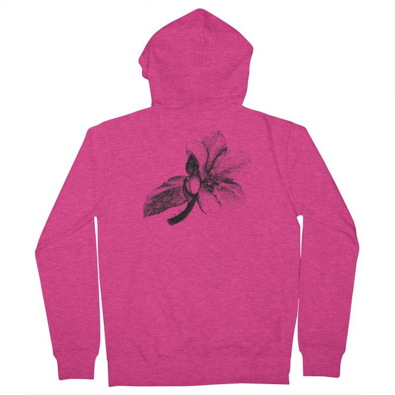 Flower T-shirt Women's French Terry Zip-Up Hoody by kouzza's Artist Shop