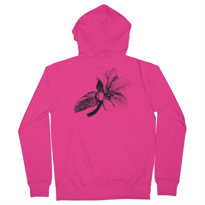 Flower T-shirt Men's French Terry Zip-Up Hoody by kouzza's Artist Shop