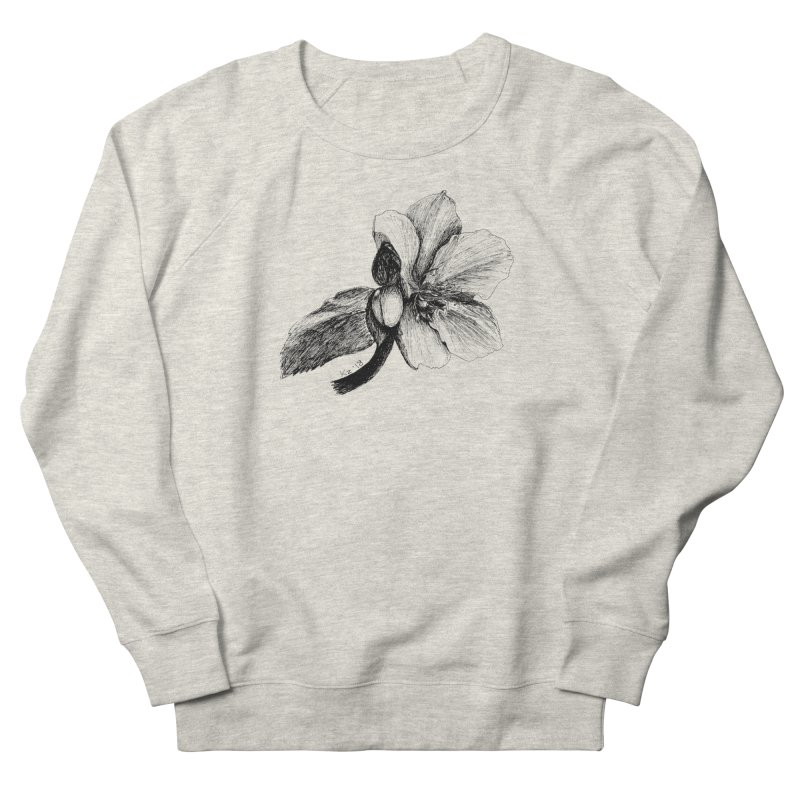 Flower T-shirt Women's French Terry Sweatshirt by kouzza's Artist Shop