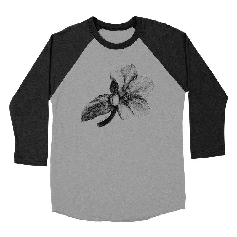 Flower T-shirt Women's Baseball Triblend Longsleeve T-Shirt by kouzza's Artist Shop