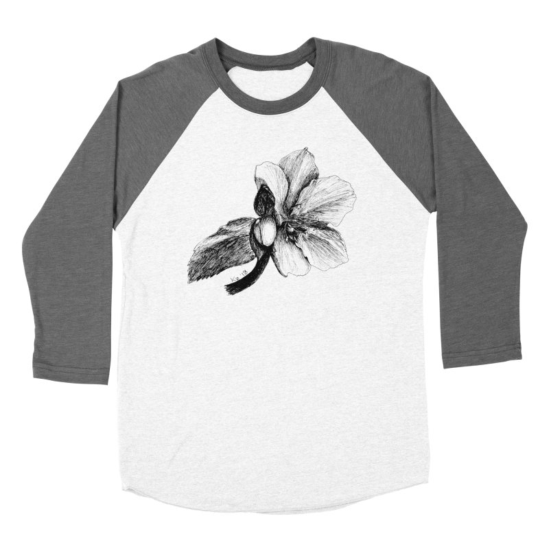Flower T-shirt Men's Baseball Triblend Longsleeve T-Shirt by kouzza's Artist Shop